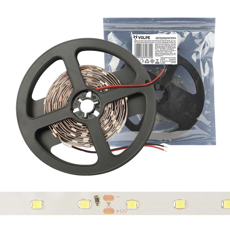ULS-Q921 2835-60LED/m-8mm-IP20-DC12V-4,8W/m-3M-WW катушка в герметичной упаковке - фото 48088
