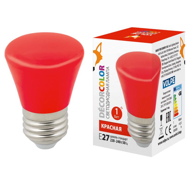 LED-D45-1W/RED/E27/FR/С BELL - фото 49268