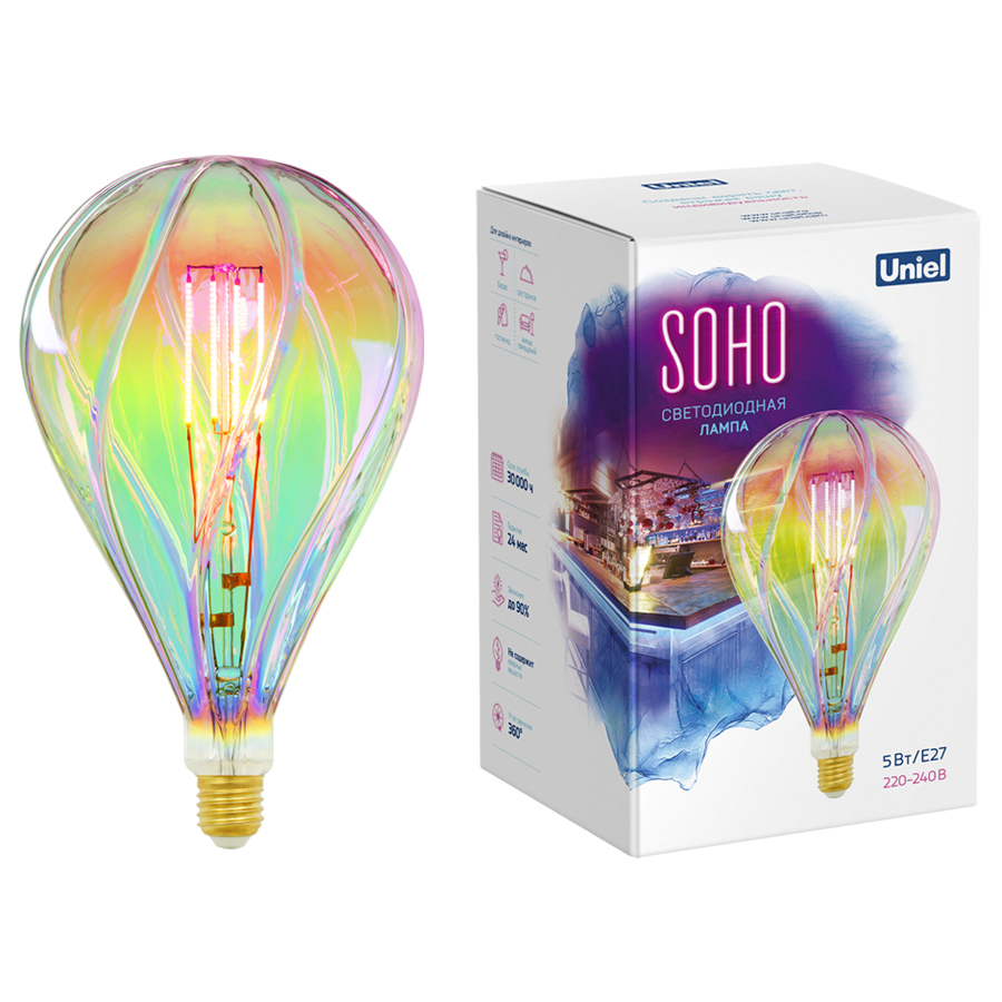 LED-SF31-5W/SOHO/E27/CW RAINBOW GLS77RB