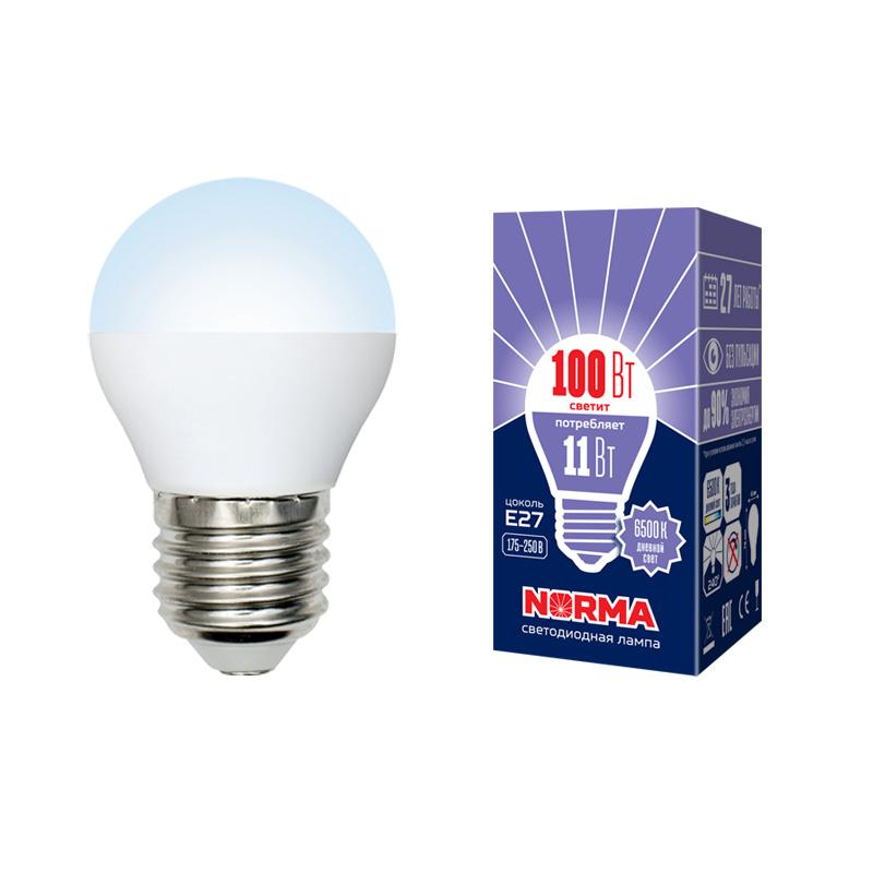 LED-G45-11W/DW/E27/FR/NR картон - фото 48672