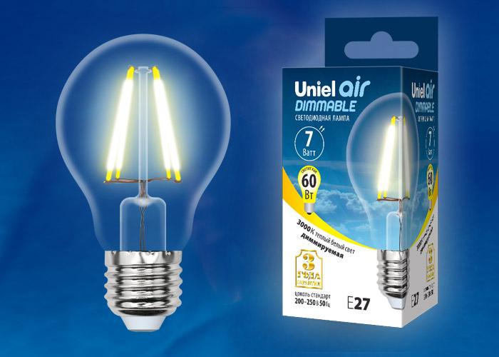 LED-A60-7W/WW/E27/CL/DIM GLA01TR картон - фото 48483