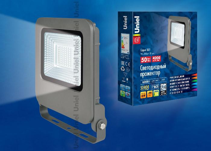 ULF-F17-50W/DW IP65 195-240В SILVER - фото 48101